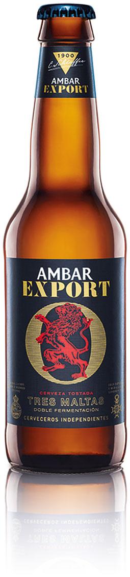 Ambar Export con tres maltas