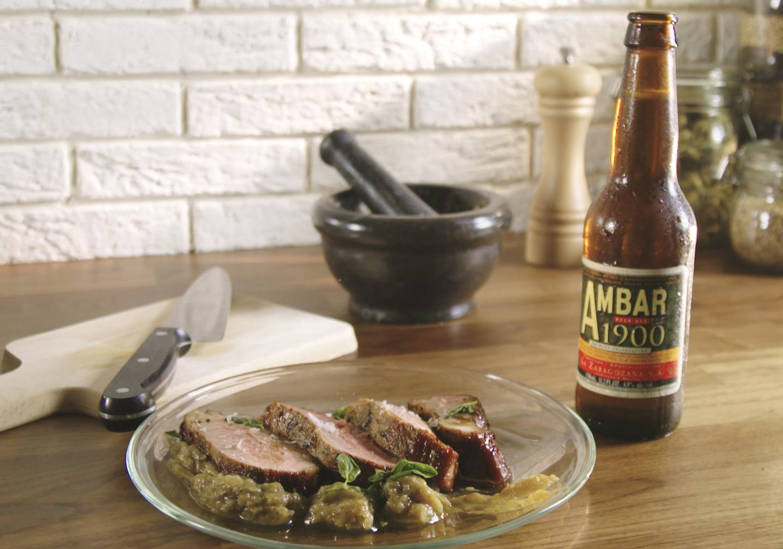Roast beef lacado con Ambar 1900