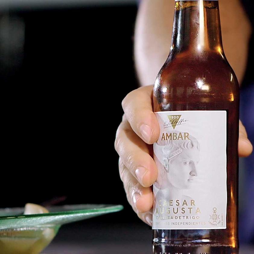 Aguachile de cerveza Caesaraugusta